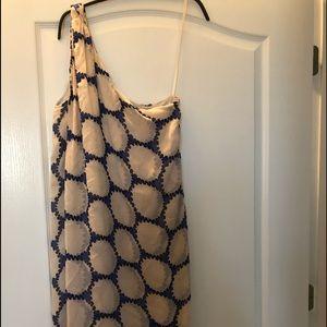 Diane von Furstenberg size 10 one shoulder dress